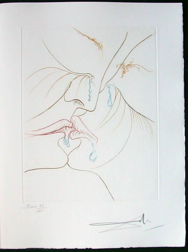 Salvador Dali - Paradise Lost - Le Baiser(The Kiss)