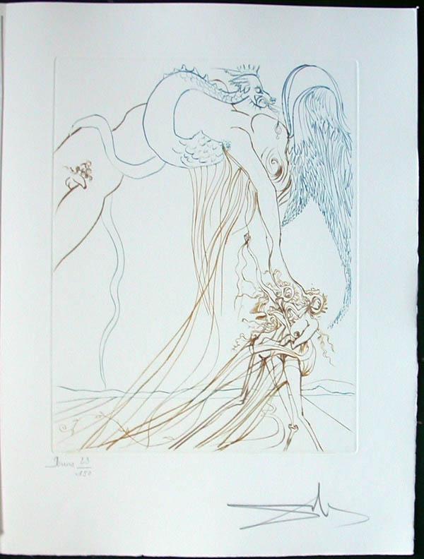 Salvador Dali - Paradise Lost - La Tentation(The Temtation)