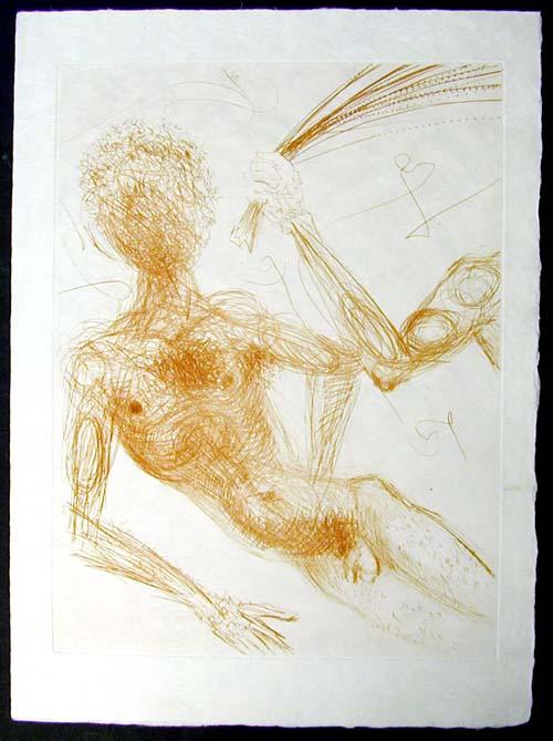 Salvador Dali - La Venus aux Fourrures - La Femme au Fouet(The Woman with a Whip)