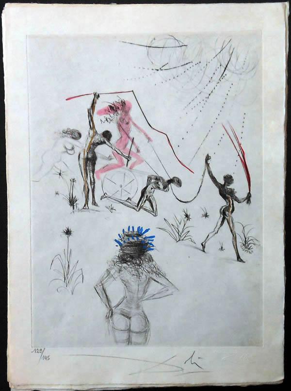 Salvador Dali - La Venus aux Fourrures - Les Negresses(The Negresses)