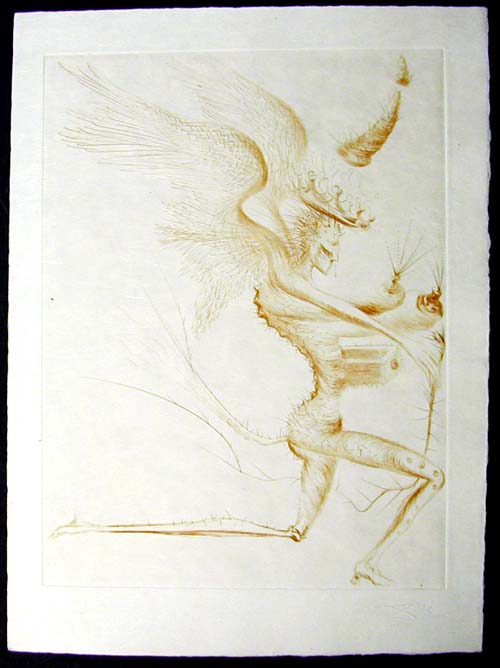 Salvador Dali - La Venus aux Fourrures - Le Demon Aile(The Winged Demon)