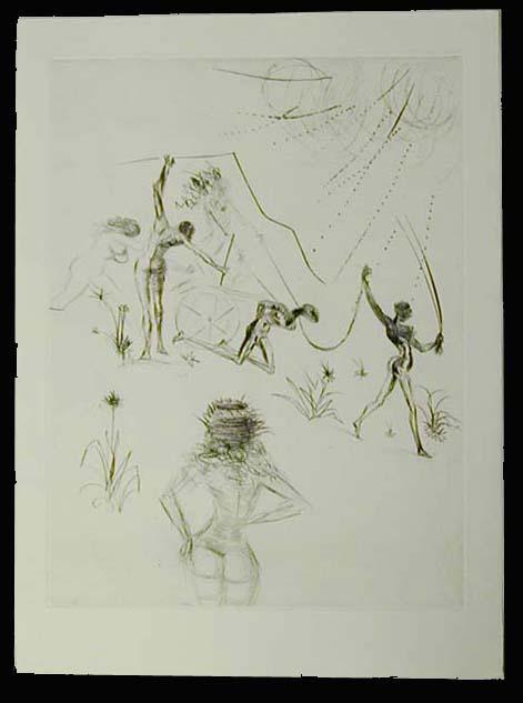 Salvador Dali - La Venus aux Fourrures - Les Negresses (The Negresses)