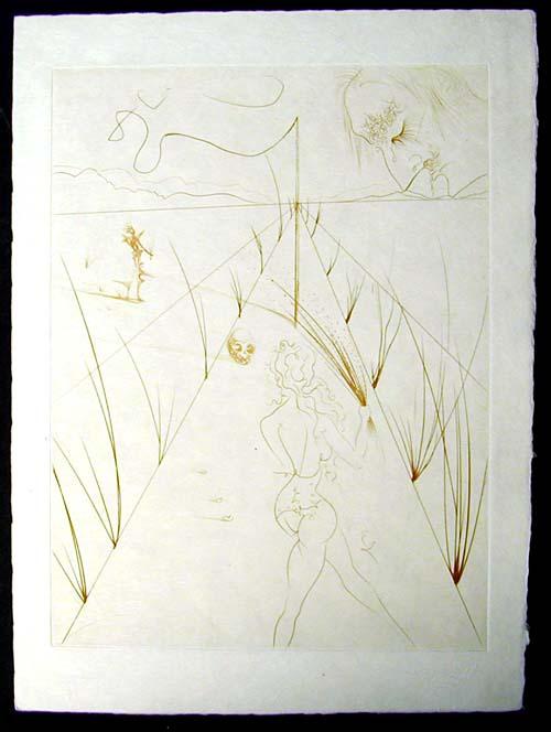 Salvador Dali - La Venus aux Fourrures - Alle des Verges(The Lane of the Birches)