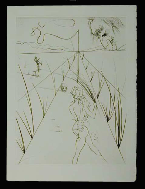 Salvador Dali - La Venus aux Fourrures - Alle des Verges (The Lane of the Birches)