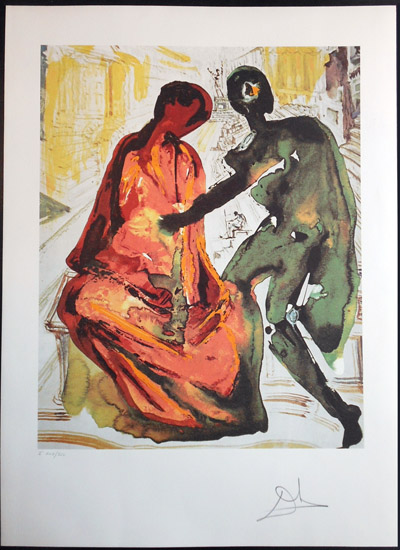Salvador Dali - Les Amoureux (The Lovers) - Anthony and Cleopatra