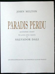 Salvador Dali - Paradise Lost - Title Page