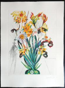 Salvador Dali - Surrealsitic Flowers, Florals - Narcussus Andalou, J