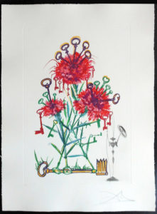Salvador Dali - Surrealsitic Flowers, Florals - Carnation + Keys, M