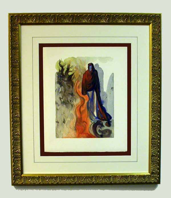 Salvador Dali - Divine Comedy Framing - floated, French lines