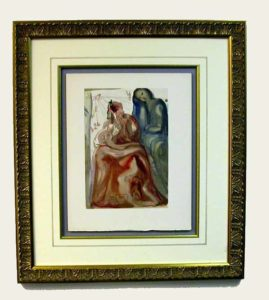 Salvador Dali - Divine Comedy Framing - floated, French lines, fillet
