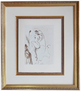 Salvador Dali - Divine Comedy Framing - floated, French lines, fillet w/gold gilded frame