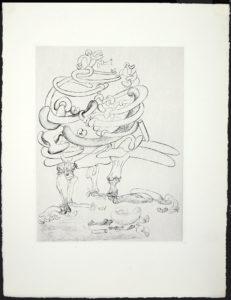 Salvador Dali - Les Chants de Maldoror - Bone Tree