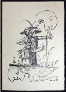 Salvador Dali - Les Songs (Songes) Drolatiques de Pantagruel b/w - A b/w