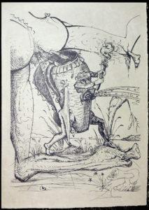 Salvador Dali - Les Songs (Songes) Drolatiques de Pantagruel b/w - E b/w