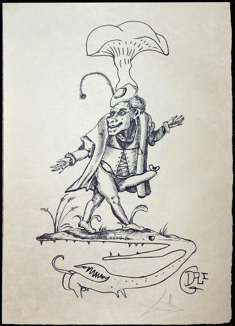 Salvador Dali - Les Songs (Songes) Drolatiques de Pantagruel b/w - I b/w