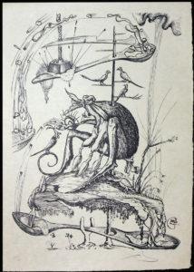 Salvador Dali - Les Songs (Songes) Drolatiques de Pantagruel b/w - M b/w