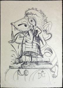 Salvador Dali - Les Songs (Songes) Drolatiques de Pantagruel b/w - N b/w