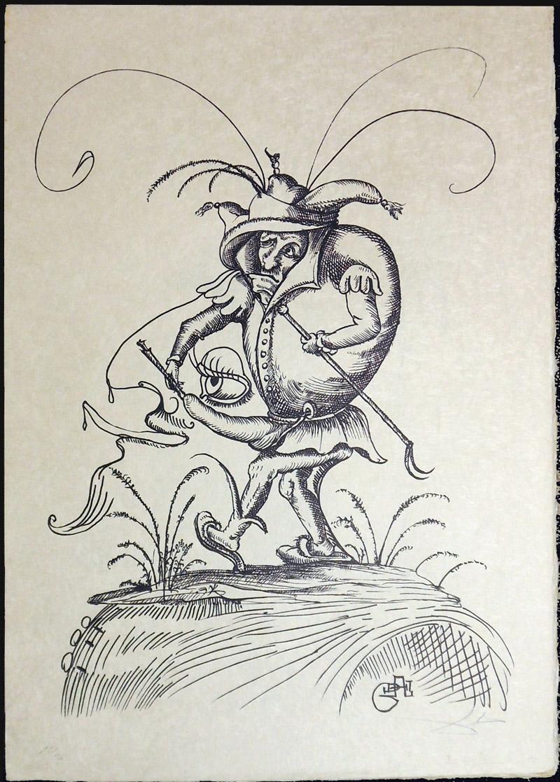 Salvador Dali - Les Songs (Songes) Drolatiques de Pantagruel b/w - S b/w