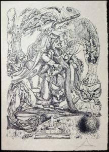 Salvador Dali - Les Songs (Songes) Drolatiques de Pantagruel b/w - U b/w