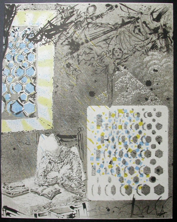 Salvador Dali - Don Quichotte de la Mancha, Book A - 1957 - Reverie of Don Quichotte
